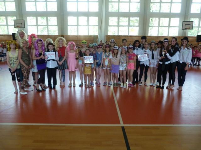 Závěrečná taneční soutěž tanečních kroužků, Stupně vítězů - pokročilí :-)